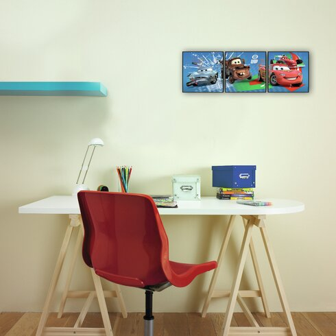 Cars 3 Piece Graphic Art Wrapped on Canvas Set