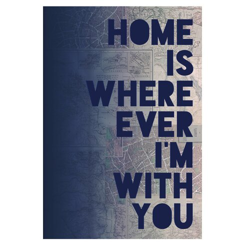'I'm With You' by Leah Flores Textual Art Poster