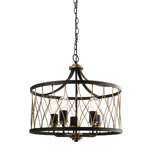 Heston 5 Light Drum Pendant