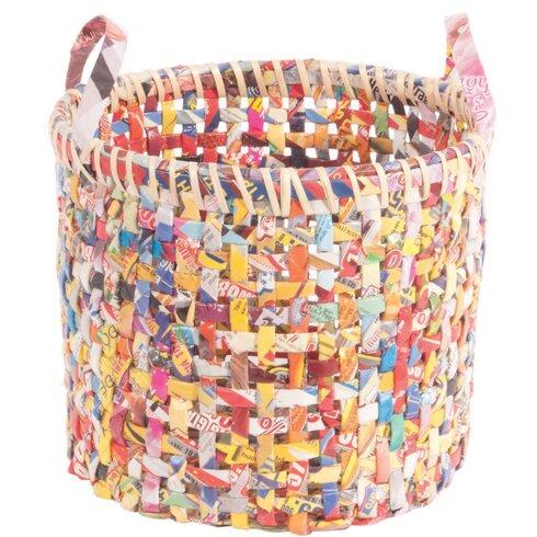 3 Piece Recycled Magazine Paper Basket Set