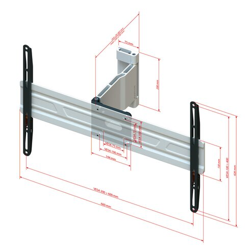 """Tilting Wall Mount for 32-65"""" Flat Panel Screens"""