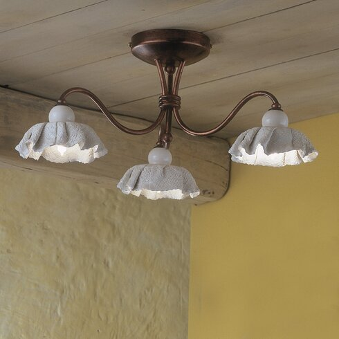 Modena 3 Light Semi Flush Mount
