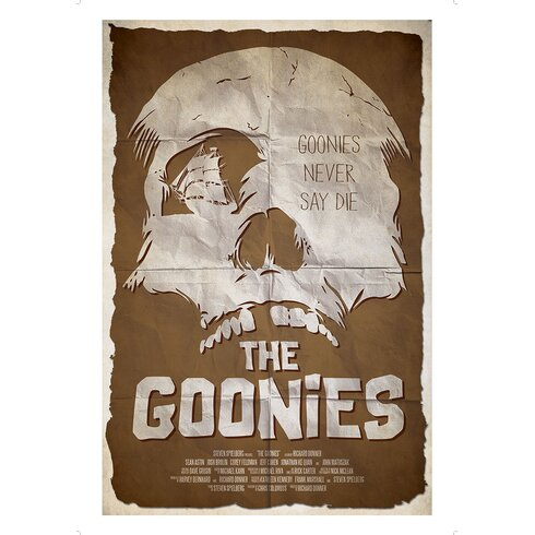 The Art of Film The Goonies Vintage Advertisement