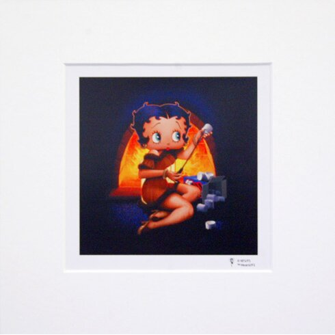 Betty Boop Fireplace Graphic Art