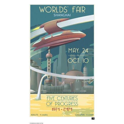 Retro Futurism Earth Vintage Advertisement
