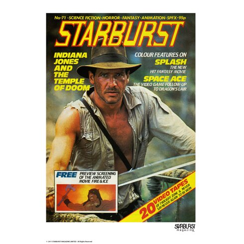 Starburst Indiana Jones Vintage Advertisement