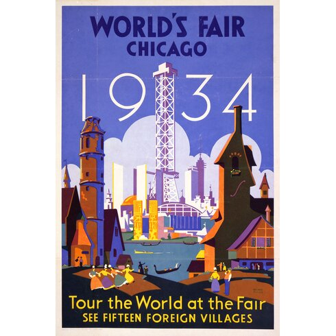 Vintage Travel Chicago Vintage Advertisement