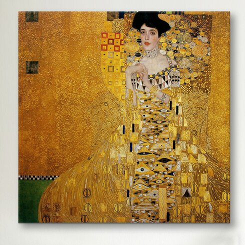 icanvas 39 portrait of adele bloch bauer i 39 by gustav klimt. Black Bedroom Furniture Sets. Home Design Ideas