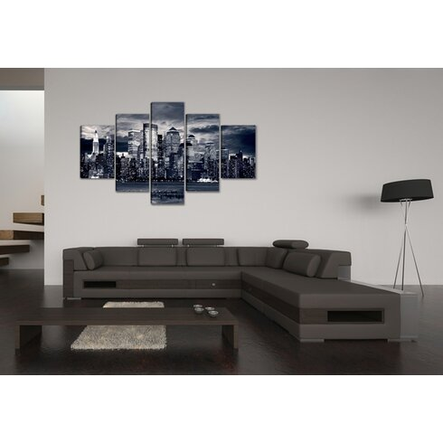 New York USA 5 Piece Photographic Print Wrapped on Canvas Set