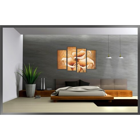 Cala 4 Piece Art Print on Canvas Set