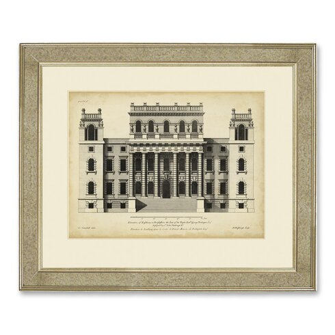 Archive 'Vintage Façade VI' Framed Graphic Art