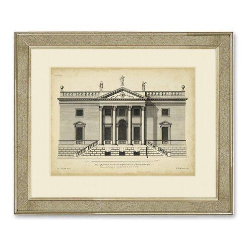 Archive 'Vintage Façade V' Framed Graphic Art