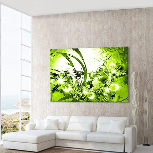 Blossom Graph Graphic Art on Canvas