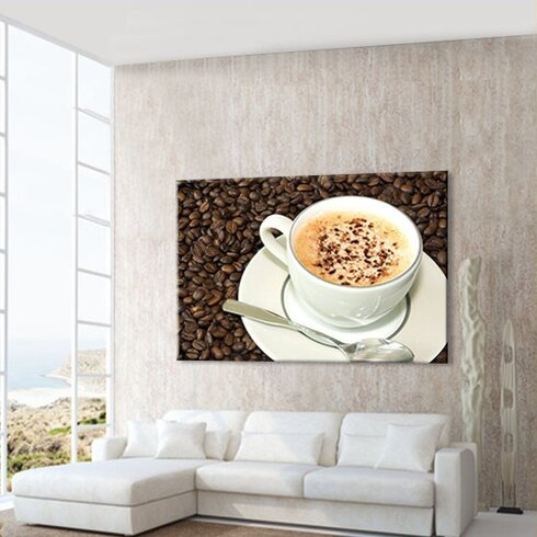 Cappuccino Photographic Print on Canvas