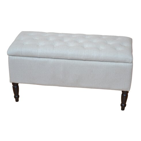 Jenny Upholstered Wooden Storage Bedroom Bench