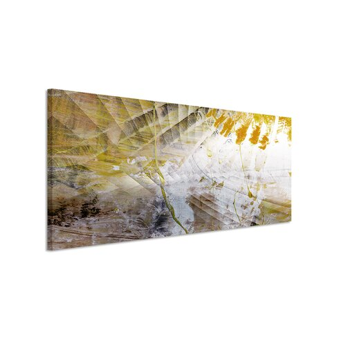 Enigma Panorama Abstrakt 864 Framed Graphic Print on Canvas