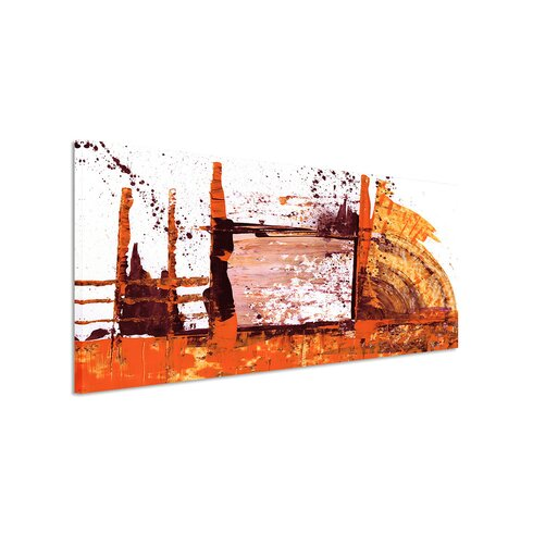 Enigma Panorama Abstrakt 674 Framed Graphic Print on Canvas