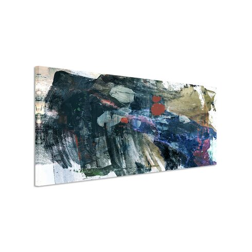 Enigma Panorama Abstrakt 835 Framed Graphic Print on Canvas