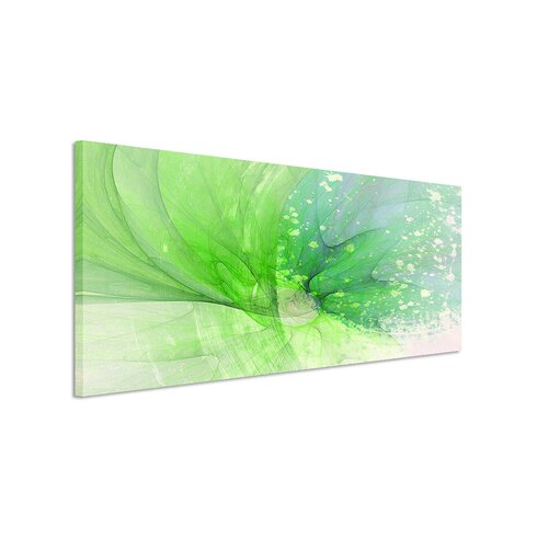 Enigma Panorama Abstrakt 1224 Framed Graphic Print on Canvas