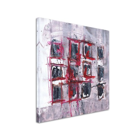 Abstract 568 Enigma Framed Graphic Print on Canvas