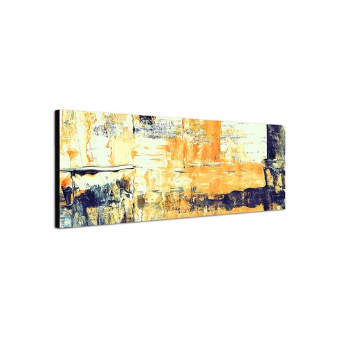 Enigma Panorama Abstrakt 001 Framed Graphic Print on Canvas