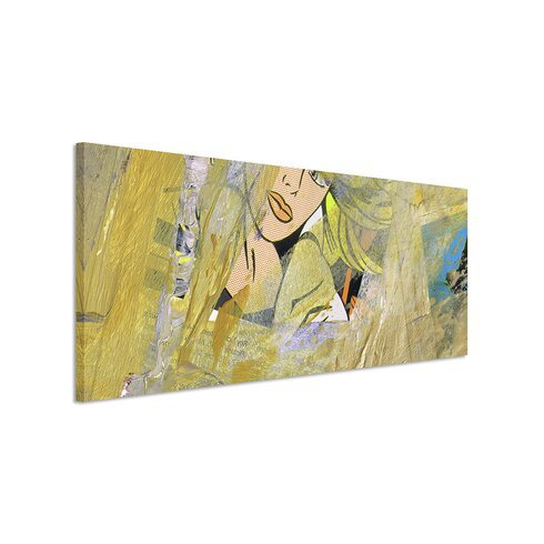 Enigma Panorama Abstrakt 537 Framed Graphic Print on Canvas