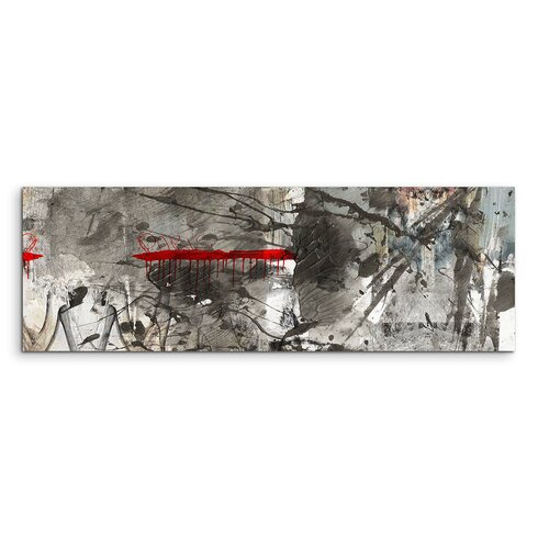 Enigma Panorama Abstrakt 839 Framed Graphic Print on Canvas