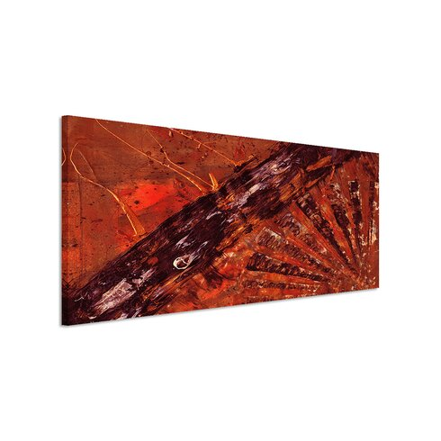 Enigma Panorama Abstrakt 850 Framed Graphic Print on Canvas