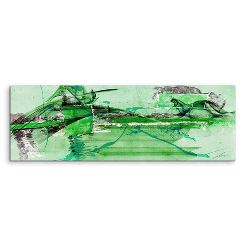 Enigma Panorama Abstrakt 719 Framed Graphic Print on Canvas