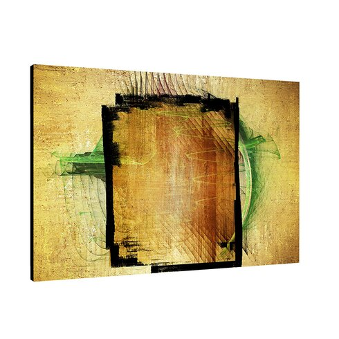 Abstract 381 Enigma Framed Graphic Print on Canvas