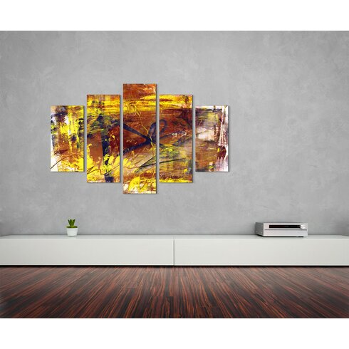 Enigma Abstrakt 834 Painting Print on Canvas Set