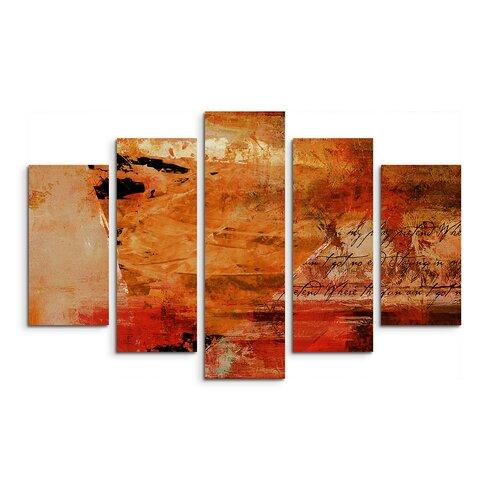 Enigma Abstrakt 758 Painting Print on Canvas Set
