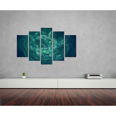 Enigma Abstrakt 1405 Painting Print on Canvas Set