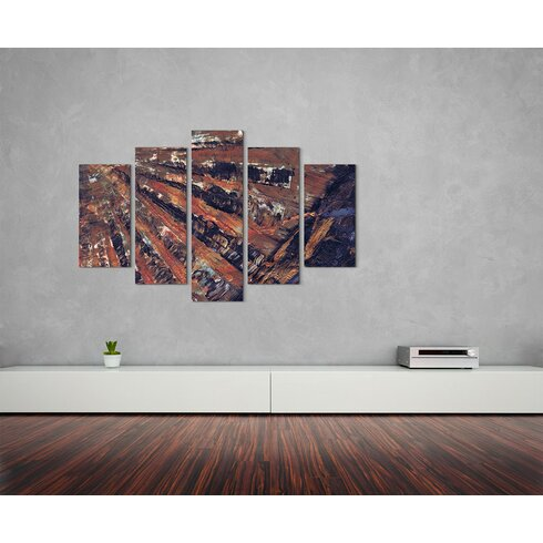 Enigma Abstrakt 893 Painting Print on Canvas Set