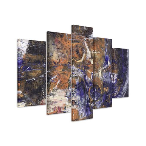 Enigma Abstrakt 899 Painting Print on Canvas Set