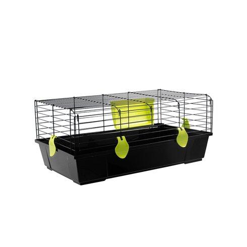 Folding Rabbit Cage in Black