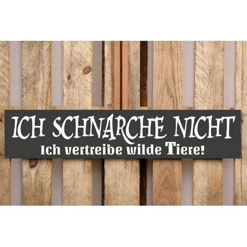 Schild-Set BD-Ich schnarche nicht, Typographische Kunst in Schwarz