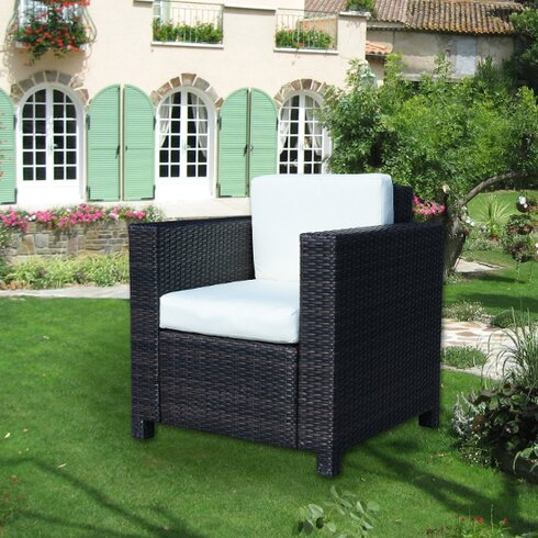 Outsunny Arm Chair with Cushion