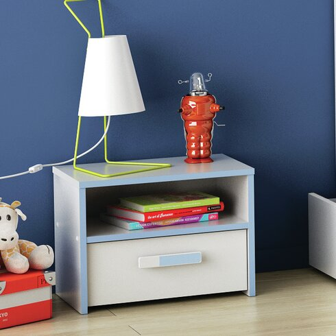 Switch Bedside Table with Drawer