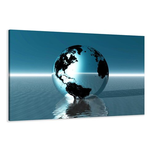 Globe Graphic Art Wrapped on Canvas