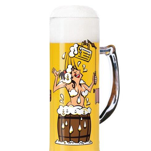 Bierkrug Seidel mit Bierdeckeln 0.5 L
