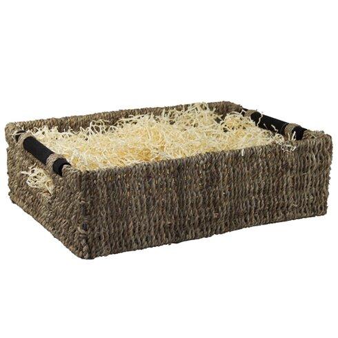 Wooden Handles Seagrass Wicker Storage Basket