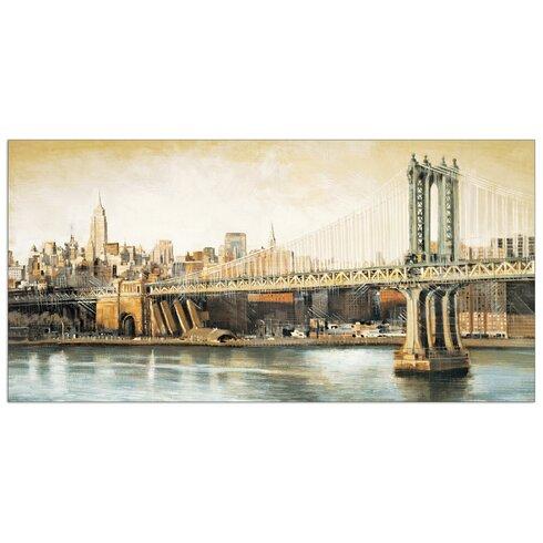 """Manhattan Bridge Way"" by Daniels Art Print Plaque"