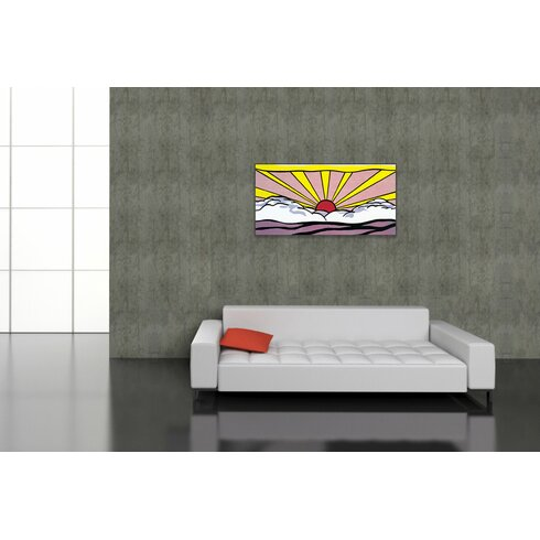 'Sunrise' by Lichtenstein Graphic Art Plaque