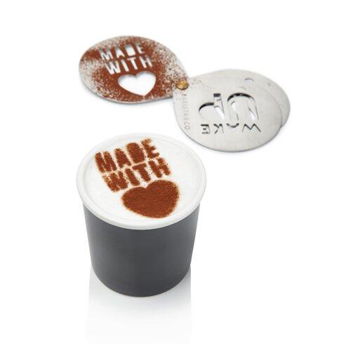 Cocoa Stencil in Electric Steel