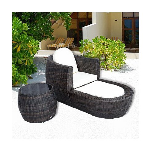 Outsunny 2 Seater Bistro Set with Cushions