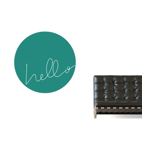 Hello Within Circle Wall Sticker