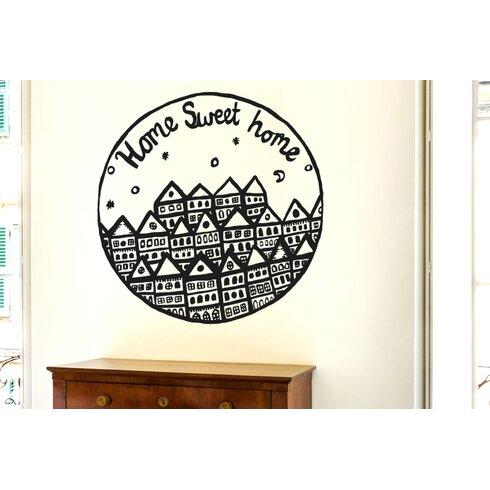 Home Sweet Home Row of Houses Wall Sticker