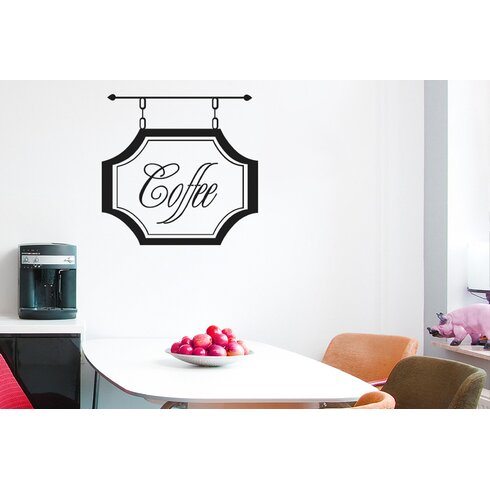 Coffee Shop Sign Wall Sticker