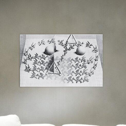 """Magic Mirrow"" by Escher Graphic Art Plaque"